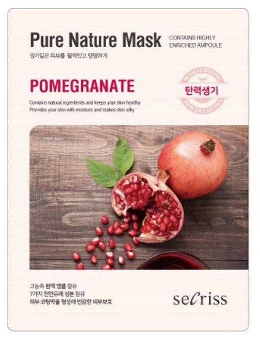Secriss маска тканевая Pure Nature Mask Pack Pomeganate с экстрактом граната
