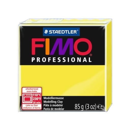 Купить Полимерная глина FIMO Professional запекаемая 85 г желтый (8004-1), Глина