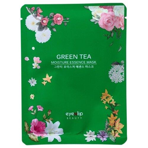 Eyenlip Moisture Essence Mask Green Tea тканевая маска с экстрактом зелёного чая, 25 млМаски<br>