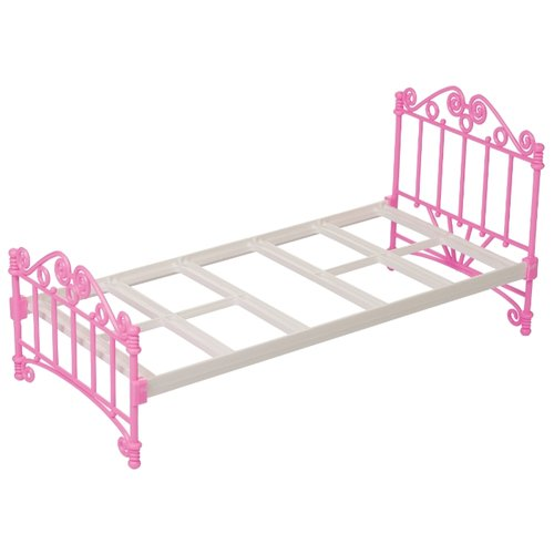 Купить ОГОНЁК Кроватка (С-1426) белый/розовый, Мебель для кукол