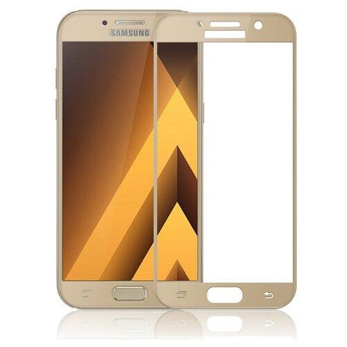 Защитное стекло UVOO Full Screen для Samsung Galaxy A3 (2017) золотой
