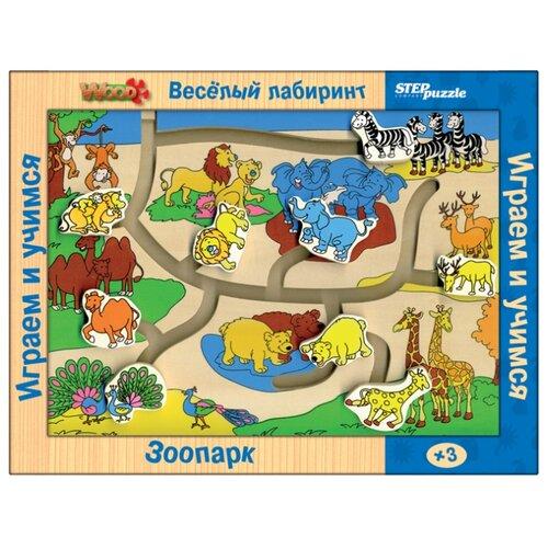 Купить Головоломка Step puzzle Веселый лабиринт Зоопарк (89101), Головоломки