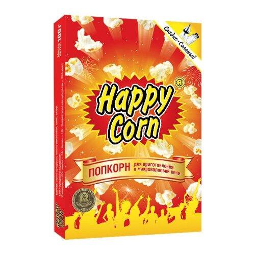 Попкорн Happy Corn сладко-солёный в коробке в зернах, 100 гПопкорн<br>