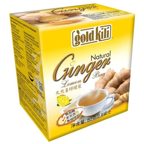 Чайный напиток травяной Gold kili Ginger lemon в пакетиках, 80 г 20 шт.