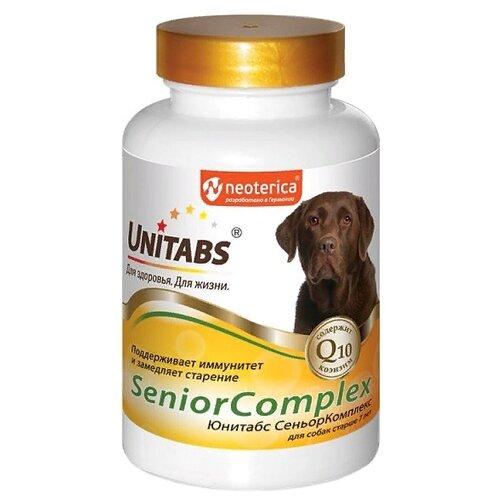 Добавка в корм Unitabs SeniorComplex для собак старше 7 лет 100 шт. добавка в корм unitabs prebiotic для кошек и собак 100 шт