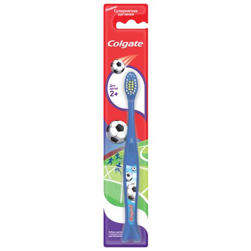 Зубная щетка Colgate Для Детей 2+, синий colgate зубная щётка для детей от 2 до 5 лет spiderman colgate синий зеленый