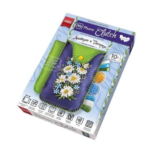 Купить Danko Toys Набор для вышивания лентами и бисером My Phone Clutch Ромашки (MPCL-01-01), Наборы для вышивания