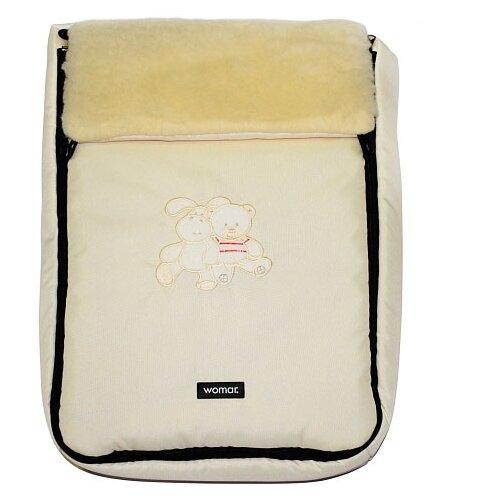 Купить Конверт-мешок Womar Aurora в коляску 95 см светло-бежевый, Конверты и спальные мешки