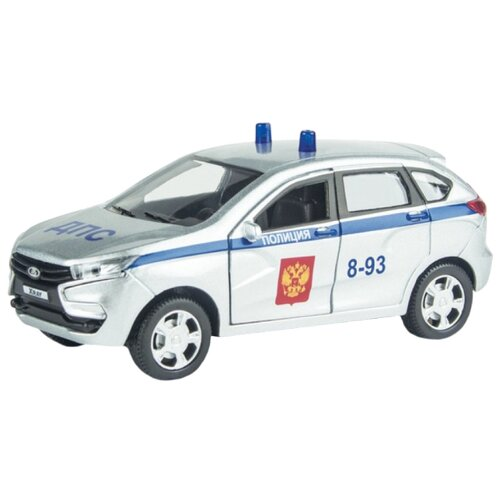 Купить Легковой автомобиль Autotime (Autogrand) Lada Xray ДПС (68267) 1:36 серебристый, Машинки и техника