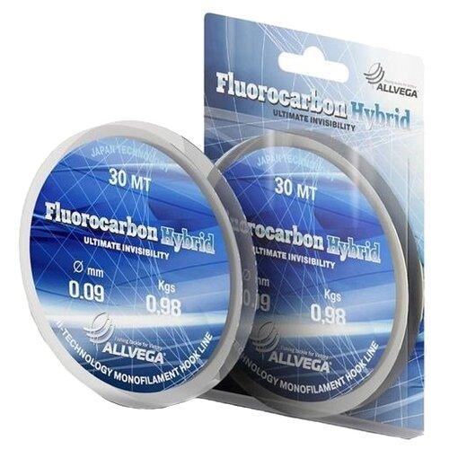 Флюорокарбоновая леска ALLVEGA FLUOROCARBON HYBRID прозрачная 0.09 мм 30 м 0.98 кг