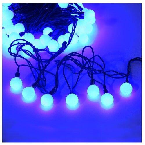 цена Гирлянда Sh Lights Шарики цветные, 1500 см, OLDBL100, 100 ламп, синие диоды/черный провод онлайн в 2017 году