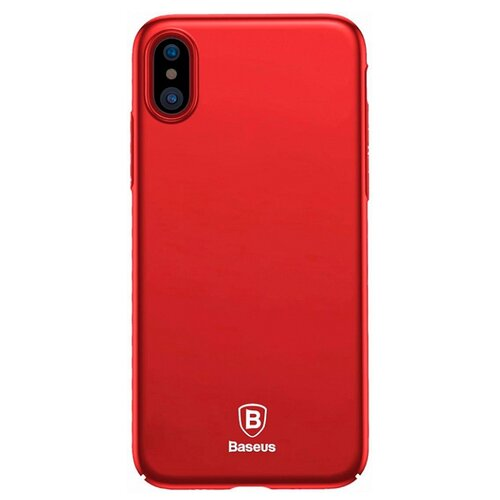 Чехол-накладка Baseus Thin Case для Apple iPhone X red чехол аккумулятор baseus continuous backpack power bank для apple iphone x белый
