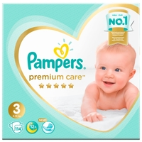 Pampers подгузники Premium Care 3 (6-10 кг) 114 шт.