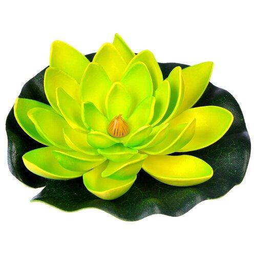 Фигура для водоема Inbloom Лилия декоративная 15 см (171-002) зеленый