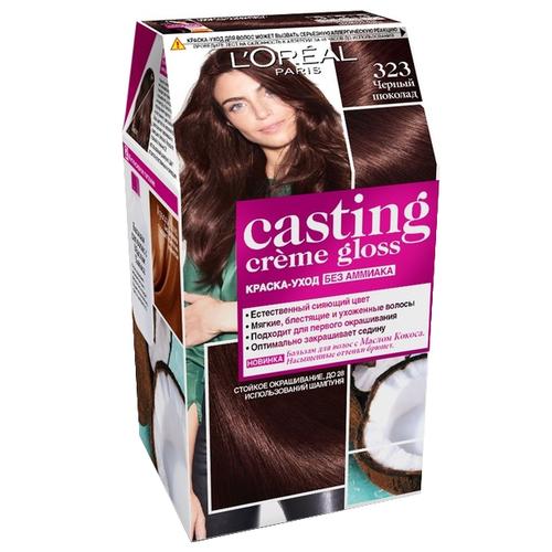 Купить L'Oreal Paris Casting Creme Gloss стойкая краска-уход для волос, 323, Черный шоколад
