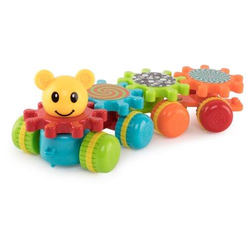 Развивающая игрушка Happy Baby Mechanix Train красный/оранжевый/зеленый/голубой happy baby развивающая игрушка iq caterpillar happy baby