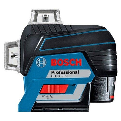 Лазерный уровень самовыравнивающийся BOSCH GLL 3-80 C Professional + BM 1 + L-BOXX 136 (0601063R05) уровень bosch gll 3 80c 15м 0601063r00