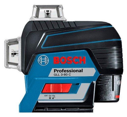 Лазерный уровень самовыравнивающийся BOSCH GLL 3-80 C Professional + BM 1 + L-BOXX 136 (0601063R05)
