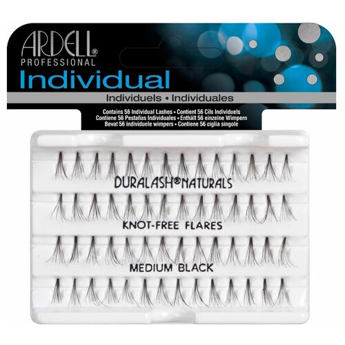 Ardell пучки ресниц Duralash Knot-Free Flares Medium Black black пучки ресниц ardell ardell ar043lwxzj87