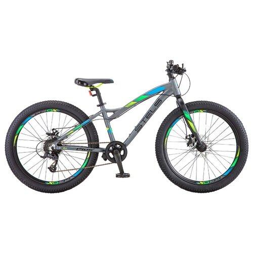Фото - Подростковый горный (MTB) велосипед STELS Adrenalin MD 24+ V010 (2019) антрацитовый 13.5 (требует финальной сборки) горный mtb велосипед stels miss 5000 md 26 v010 2019 бирюзовый 17 требует финальной сборки
