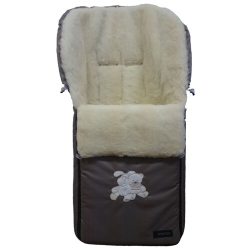 Купить Конверт-мешок Womar Aurora в коляску 95 см темно-бежевый, Конверты и спальные мешки