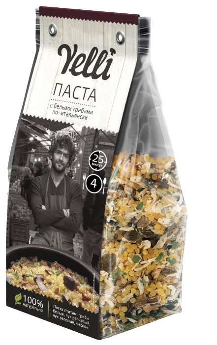 Купить Yelli Паста с белыми грибами по-итальянски 250 г по низкой цене с доставкой из Яндекс.Маркета (бывший Беру)