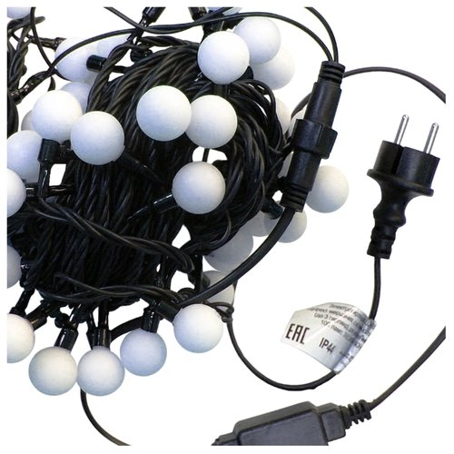 Гирлянда Sh Lights Шарики цветные, 1000 см, OLDBL070, 70 ламп, белые диоды/черный провод гирлянда sh lights 250 см