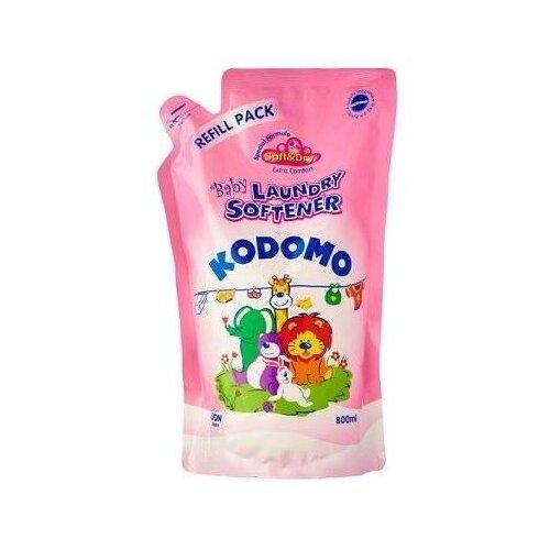 KODOMO Кондиционер для детского белья антибактериальный, 0.8 л, пакет midzumi kodomo