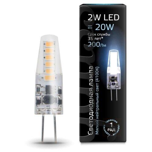 Лампа светодиодная gauss 107707202, G4, JC, 2Вт лампа светодиодная gauss 207707203 g4 jc 3вт