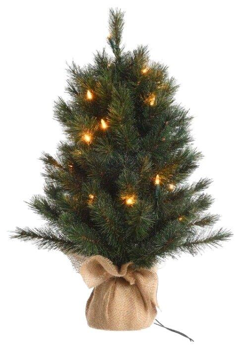 Kaemingk Настольная елка со светодиодами Норвежская в мешочке 60 см, 20 теплых белых LED ламп, леска + ПВХ 683201