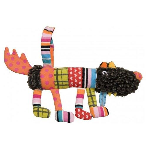 Купить Подвесная игрушка Ebulobo Сосиска Волчонок S (E10047) коричневый/оранжевый, Подвески