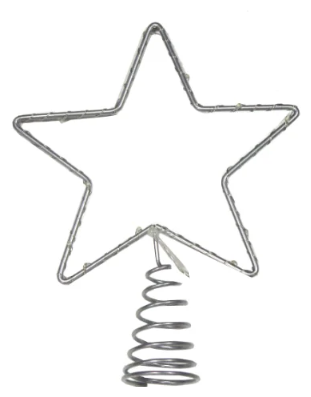 Snowhouse Светодиодная Звезда на елку 20 см холодная белая, mini LED лампы, на батарейках STS20-LDM20-W-BO