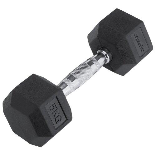 Гантель неразборная Starfit DB-301 5 кг гантель неопреновая bodyform bf dn01 1шт вес 0 5 кг
