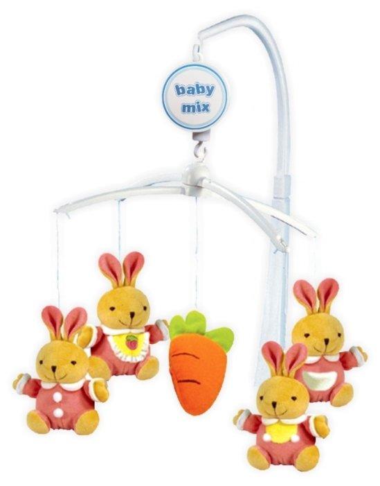 Механический мобиль Baby Mix Кролики с морковкой 708М