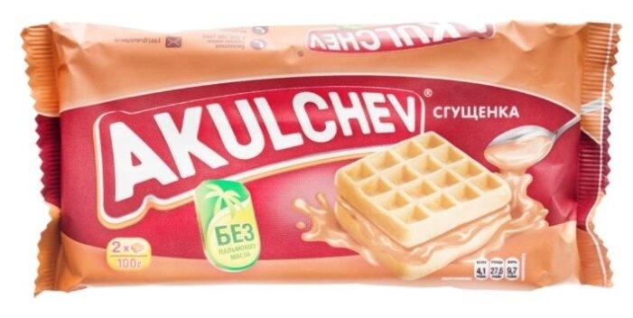 Вафли Акульчев Венские со сгущенкой 100г