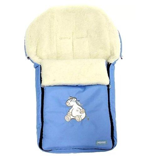 Купить Конверт-мешок Womar Aurora в коляску 95 см 9/2 голубой, Конверты и спальные мешки
