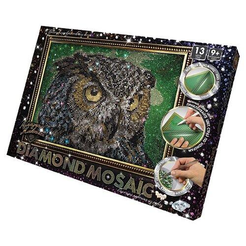 Купить Danko Toys Набор алмазной вышивки Diamond Mosaic Сова (DM-02-01) 30х20 см, Алмазная вышивка