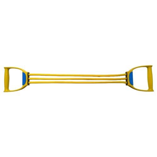 цена на Эспандер плечевой Indigo Latex 3 жгута Light 70 см желтый