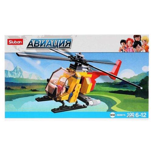 Конструктор SLUBAN Авиация M38-B0667A Вертолет sluban 38 0103мв