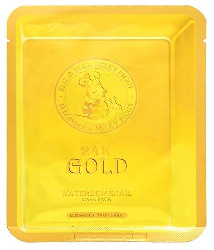 Elizavecca Тканевая маска с золотом и улиточным муцином 24k Gold Water Dew Snail