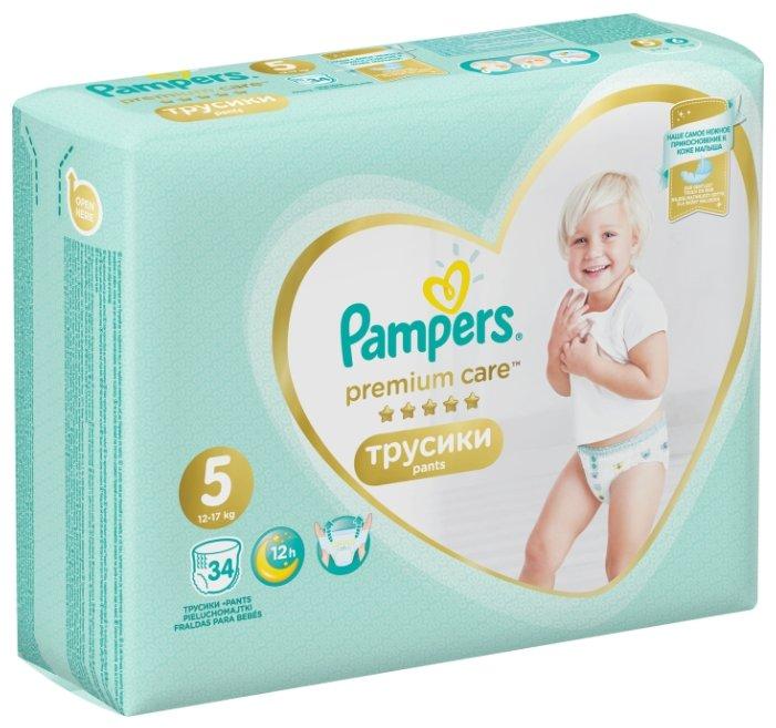 Pampers Premium Care трусики 5 (12-17 кг) 34 шт.