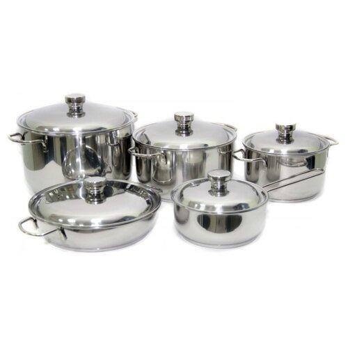 Набор посуды Амет Классика-Прима 1с895 10 пр. серебристый набор посуды для приготовления амет классика прима металлическая крышка