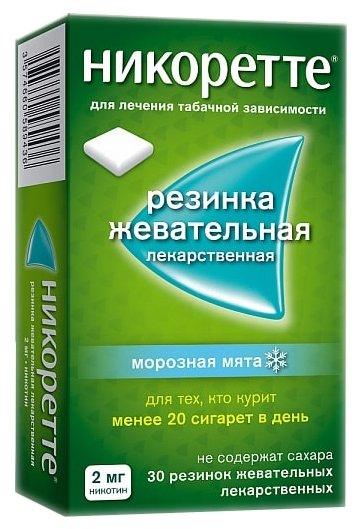 Никоретте жев. резинка Морозная мята 2мг №30