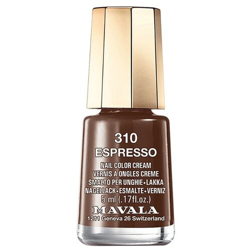 Лак Mavala Nail Color Cream, 5 мл, оттенок 310 Espresso лак mavala nail color cream 5 мл оттенок 315 amethyst