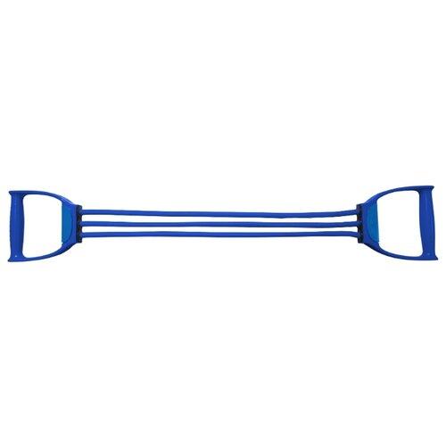 цена на Эспандер плечевой Indigo Latex 3 жгута Heavy 70 см синий