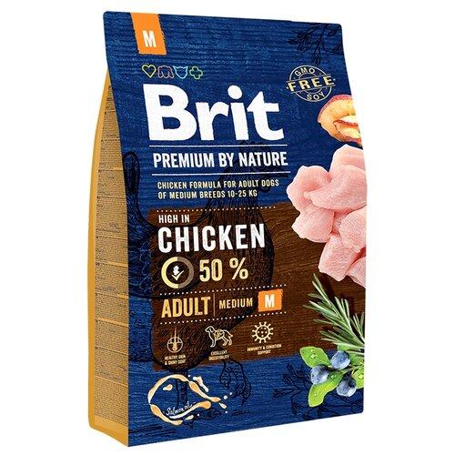 Корм для собак Brit (3 кг) Premium by Nature Adult MКорма для собак<br>