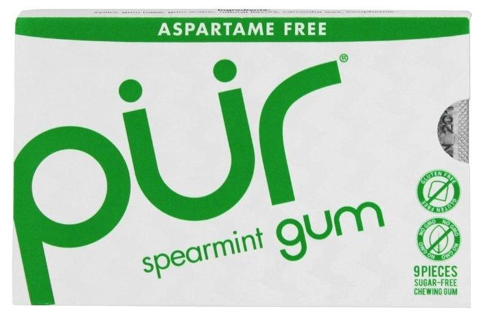 Жевательная резинка PUR Spearmint мята, 9 шт