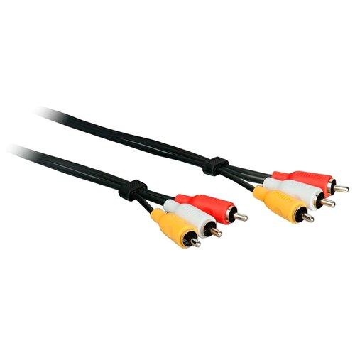 Фото - Кабель Philips 3xRCA - 3xRCA (SWV2532W/10) 3 м черный кабель