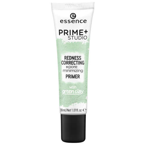 Essence Праймер-корректор покраснений Prime Studio Redness Correcting Pore Minimizing Primer with Green Clay 30 мл зеленый