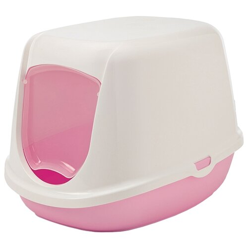 Туалет-домик для кошек SAVIC Duchesse 44.5х35.5х32 см белый/розовый